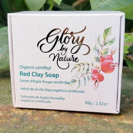 Sabonete argila vermelha 80g - Glory by Nature - Arte da Cosmética