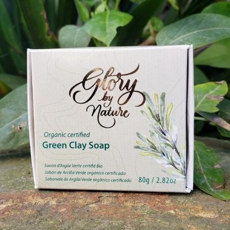 Sabonete de argila verde 80g - Glory by Nature - Arte da Cosmética
