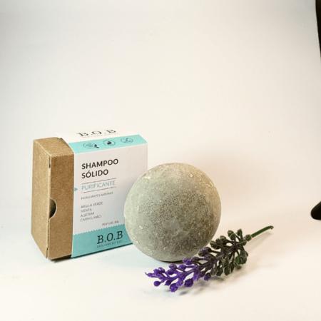 Shampoo sólido vegano purificante - ARTE DA COSMÉTICA