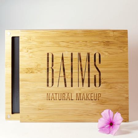 Paleta de bamboo para maquiagem - BAIMS - Arte da Cosmética
