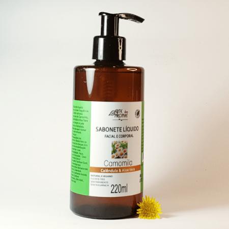 Sabonete líquido camomila, calêndula e aloe vera - Arte dos Aromas